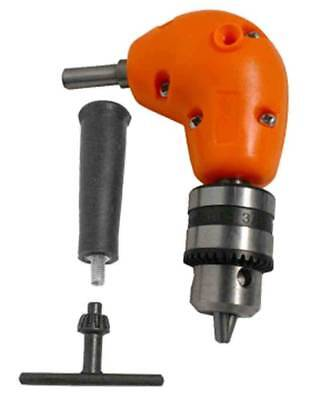 Right Angle Drill Attachment Chuck Adapter Electric Power Cordless 3/8 90 Degree