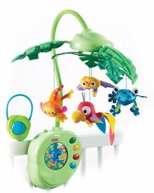 FISHER PRICE MUSICAL MOBILE JUNGLE