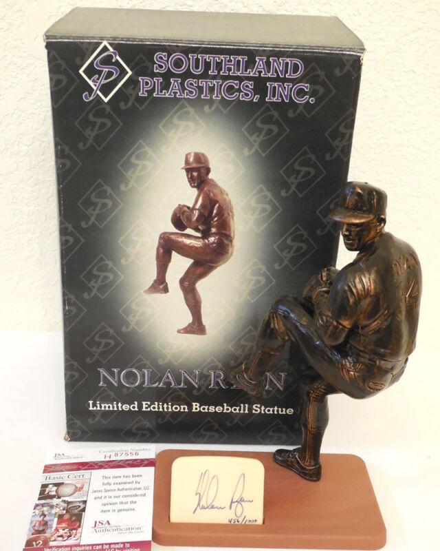 (SSG) NOLAN RYAN Signed Southland Sports Figurine with a JSA (James Spence) COA