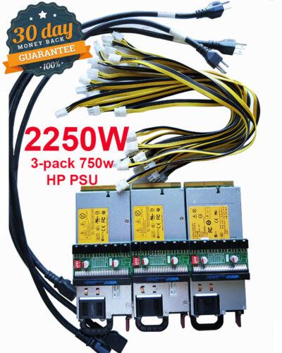 Total 2250W PSU Power Supply Kit 6-8pin GPU mining #Ethereum and more