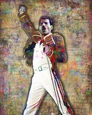 Freddie Mercury Of Queen Poster Freddie Mercury Queen Art 16x20in Free Shipping