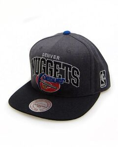 Mitchell & Ness Denver Nuggets NBA Grey / Black HWC Arch Snapback Cap Hat
