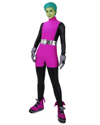 Beast Boy Cosplay Costume Halloween Jumpsuit For Sale