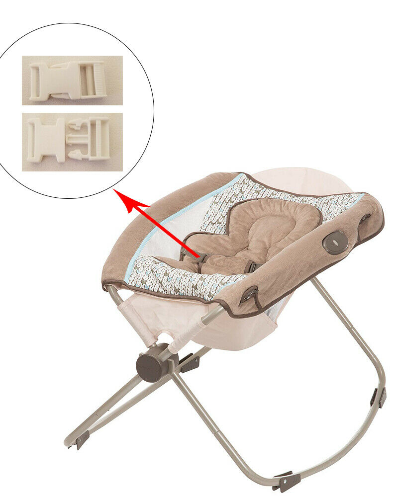 1 White Harness Seat Clip for Eddie Bauer Baby Rocker Bounce