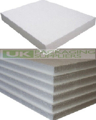 50 WHITE POLYSTYRENE FOAM SHEETS EPS70 SIZE 600 x 400 x 25mm SDN INSULATION