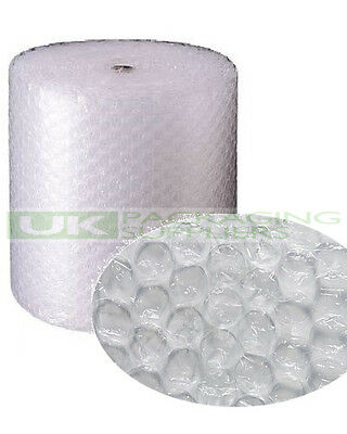 2 LARGE BUBBLE WRAP ROLLS 750mm WIDE x 50 METRES LONG PACKAGING CUSHIONING - NEW