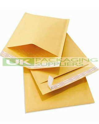 200 SMALL 215 x 320mm GOLD PADDED BUBBLE SELF SEAL ENVELOPES MAILERS - NEW