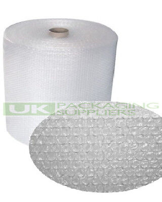 2 SMALL BUBBLE WRAP ROLLS 500mm WIDE x 100 METRES LONG PACKAGING CUSHIONING NEW