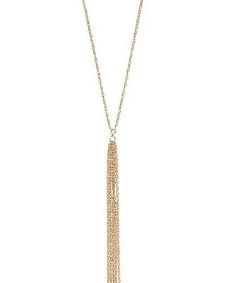Jennifer Zeuner Women's Amaya Gold Long Fringe Necklace Tassel Pendant