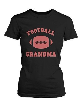 Football Grandma Graphic Shirts Cute Christmas Gifts Ideas for Grandmother ()