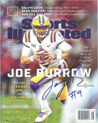 Joe Burrow LSU Tigers signed 8x10 Sports Illustrated autographed Photo reprint