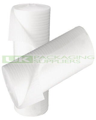 3 SMALL ROLLS OF WHITE JIFFY PROTECTIVE FOAM WRAP 500mm x 200 METRES - NEW