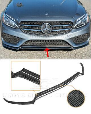 CARBON FIBER Front Lip For 15-18 W205 C-Class AMG Sport Style Bumper Splitter