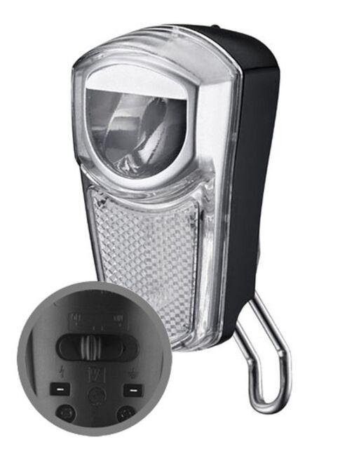 LED Fahrradscheinwerfer Union 4266-35 Lux für Nabendynamo mit Standlicht