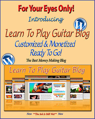 Learn Guitar Blog Self Updating Website - Clickbank Amazon Adsense Pages More