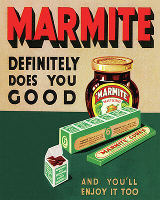 Marmite - VINTAGE ADVERTISING ENAMEL METAL TIN SIGN WALL PLAQUE