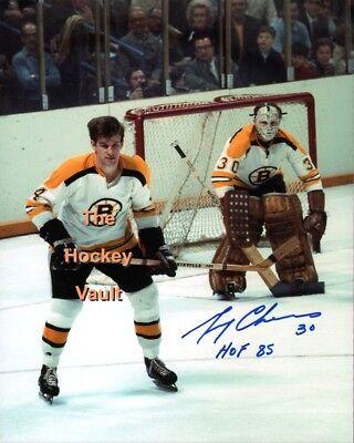 Bobby ORR CHEEVERS Signed HOME Uniform BOSTON Bruins FACE OFF 8X10 COA HOL L@@K  - 10 Home Uniform
