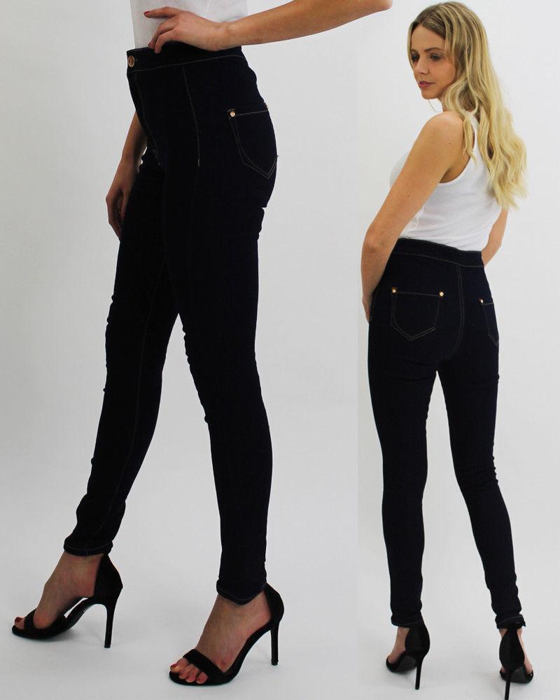 Women/'s Denim Distressed Ankle Leg Girls Jeans Ladies Skinny Fit Frayed Size6-14