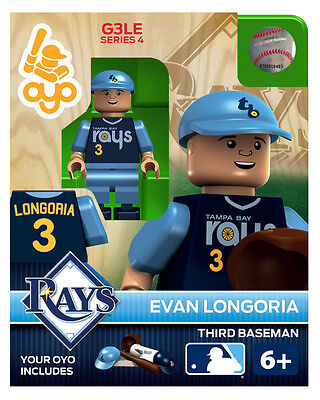 Evan Longoria MLB Tampa Bay Rays Oyo Mini Figure NEW G3 RARE