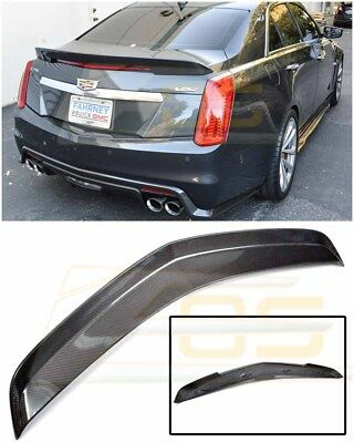 IMPERFECT For 2016-Present Cadillac CTS-V CARBON FIBER Trunk Rear Spoiler Wing