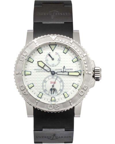 ULYSSE NARDIN MAXI MARINE DIVER CHRONOMETER POWER RESERVE MEN'S WATCH $9,300 - watch picture 1