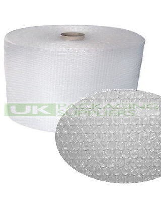2 SMALL BUBBLE WRAP ROLLS 300mm WIDE x 100 METRES LONG PACKAGING CUSHIONING NEW