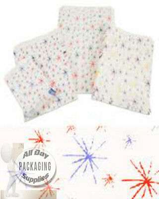 1000 SMALL STARBURST PRINTED PAPER BAGS SIZE 5 X 7