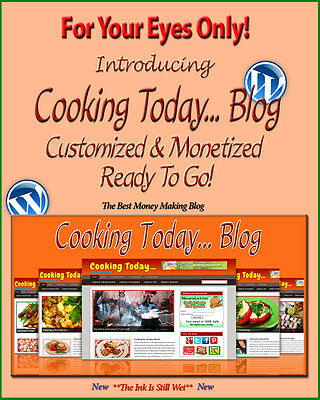 Cooking Blog - Self Updating Website - Clickbank Amazon Adsense Pages More