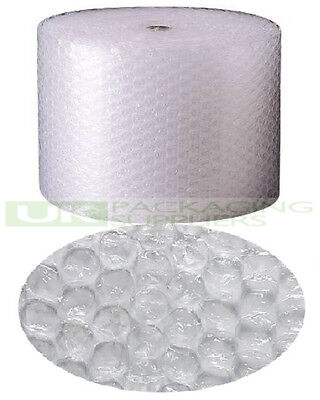 2 LARGE BUBBLE WRAP ROLLS 500mm WIDE x 50 METRES LONG PACKAGING CUSHIONING NEW