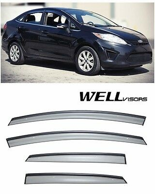 Usado, For 11-19 Ford Fiesta Sedan WellVisors BLACK TRIM Side Window Visors Rain Guards comprar usado  Enviando para Brazil