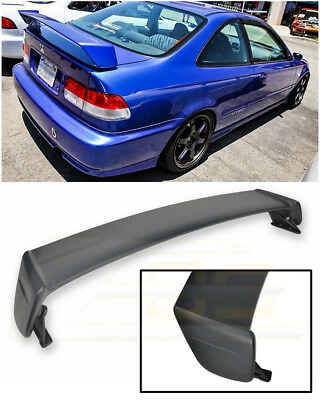 For 96-00 Honda Civic Coupe MUGEN Style PRIMER BLACK Rear Trunk Lid Wing Spoiler Civic Coupe Body Kit