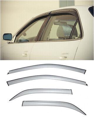 For 98-02 Honda Accord Sedan   WellVisors Smoked Side Window Visors Deflectors