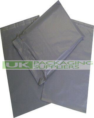 100 LARGE GREY PLASTIC MAILING BAGS 17 x 24