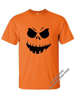 Scary Halloween Pumkins (Halloween Scary Angry Pumkin Face T-shirt / FREE SHIPPING / Missy)