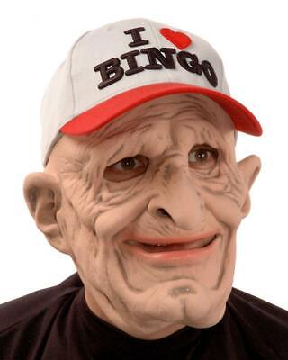 Old Man Mask I Love Bingo B-9 Wrinkled Halloween Costume Party Funny