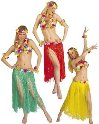 Set Hawaii Lusso gonna hawaiana fiori reggiseno fiori corona PS - Corona Kostüm