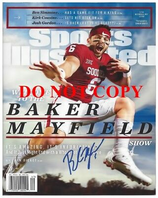BAKER MAYFIELD Heisman Trophy Winner Sports Illustrated Autographed 8x10 Signed