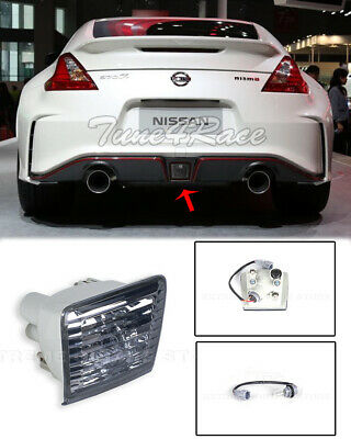 For 09-Up Nissan 370Z Z34 Rear Fog Light Tail Brake Lamps JDM Crystal Smoke Lens