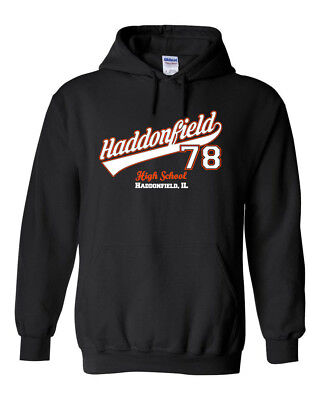 Haddonfield High School Double Sided HOODIE - Myers 78 Horror Halloween Costume
