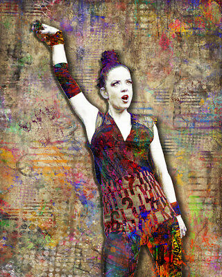 SHIRLEY MANSON of GARBAGE Pop Art 16x20in Poster, GARBAGE tribute Free Shipping