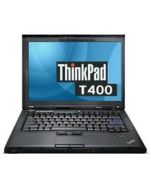 Lenovo Thinkpad T400 laptop with 1TB external drive