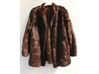 Vintage Genuine Fur Coat Short Length Coney