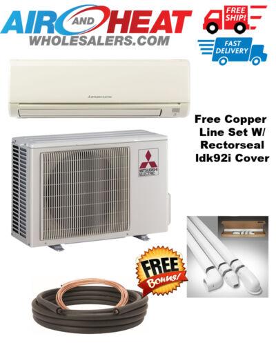Mitsubishi Mini Split Heat Pump Inverter 9000btu 18 Seer *free Line Set & Cover*