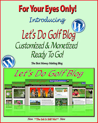 Golf Blog Website Self Updating Adsense Amazon Clikbank