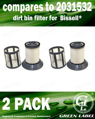 2 Pack for Bissell Zing Bagless Dirt Cup Filter 2031532, 2031772. By Green Label](Dirt Cups)