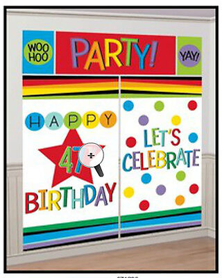 (Add any Age Scene Setter Wall Decorations ~ Adult / Any Birthday Party Supplies)