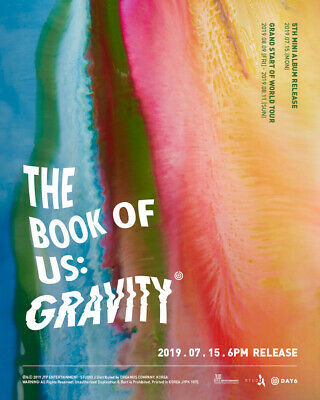 Day6[The Book Of Us:Gravity]5th Mini Album CD+Poster+Book+Card+etc+PreOrder+Gift