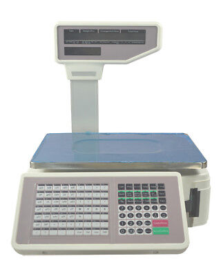 (110V Commercial Digital Price Computing Scale 66 lbs with Label Printer)