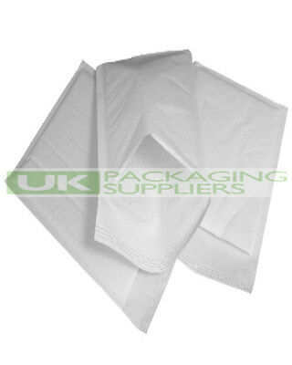 500 LARGE 260 x 345mm WHITE PADDED BUBBLE SELF SEAL ENVELOPES MAILERS - NEW