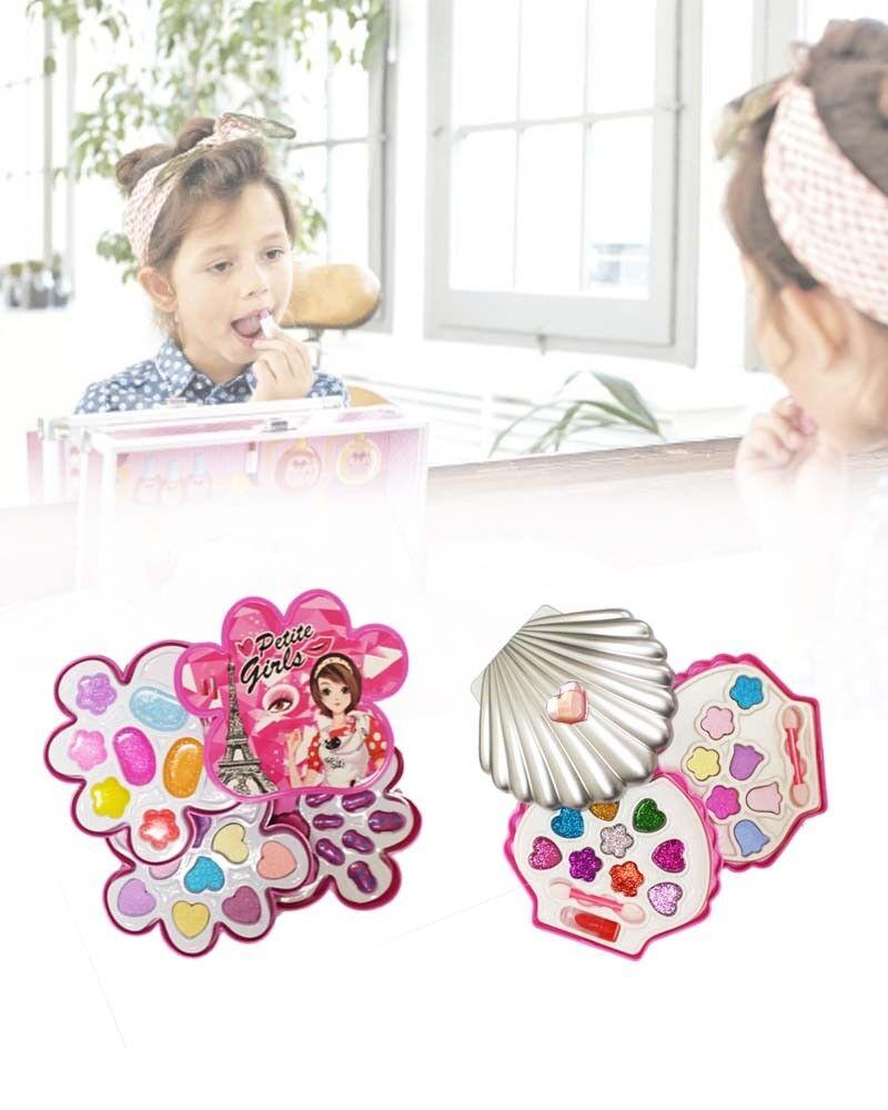 Cofanetto trucchi per bambine - Trousse con set di ombretti e rossetti
